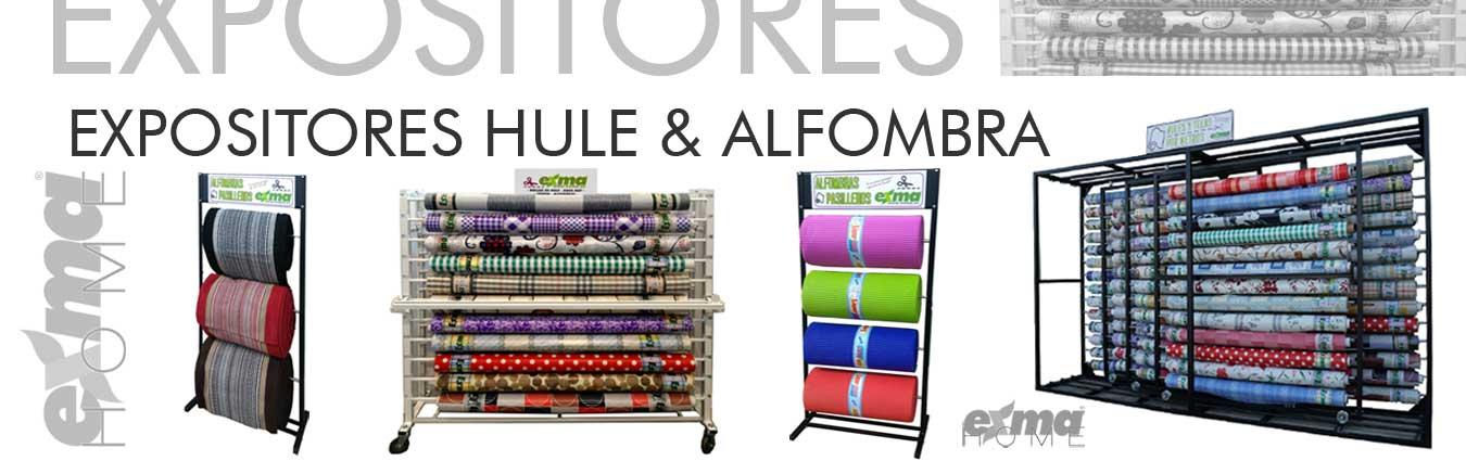 Mantel de hule, rollos de hule, mantel antimanchas, alfombras, felpudos, pasilleros, césped artificial, cortinas, alfombras de baño, alfombras de ducha, expositores...