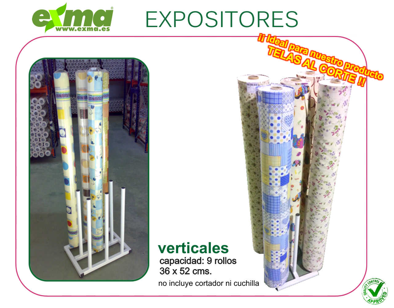 expositor vertical hules
