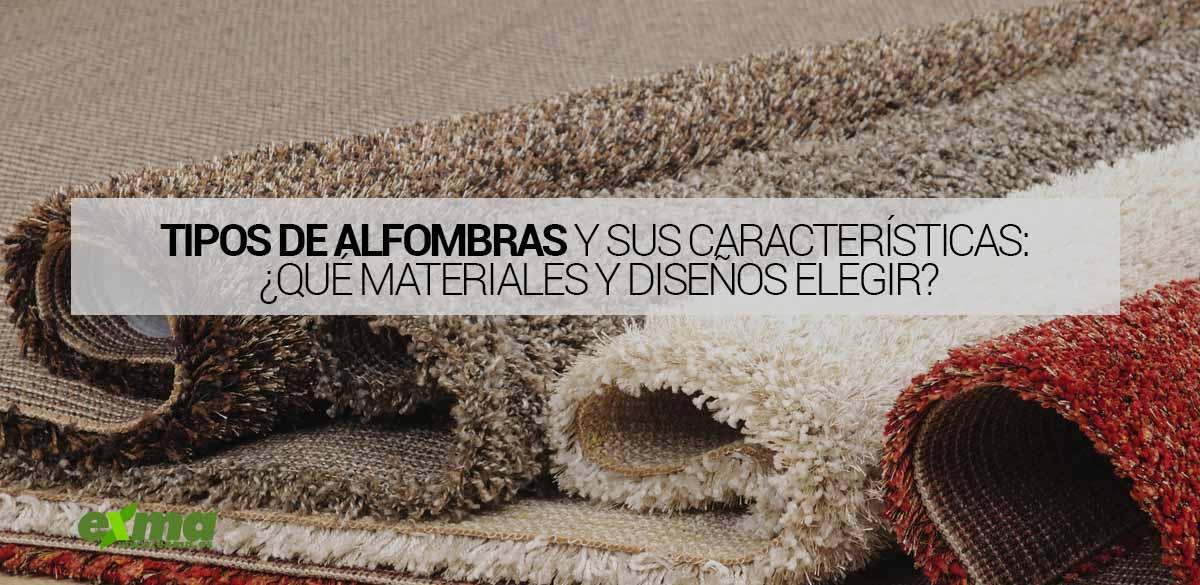 tipos de alfombras qué existen
