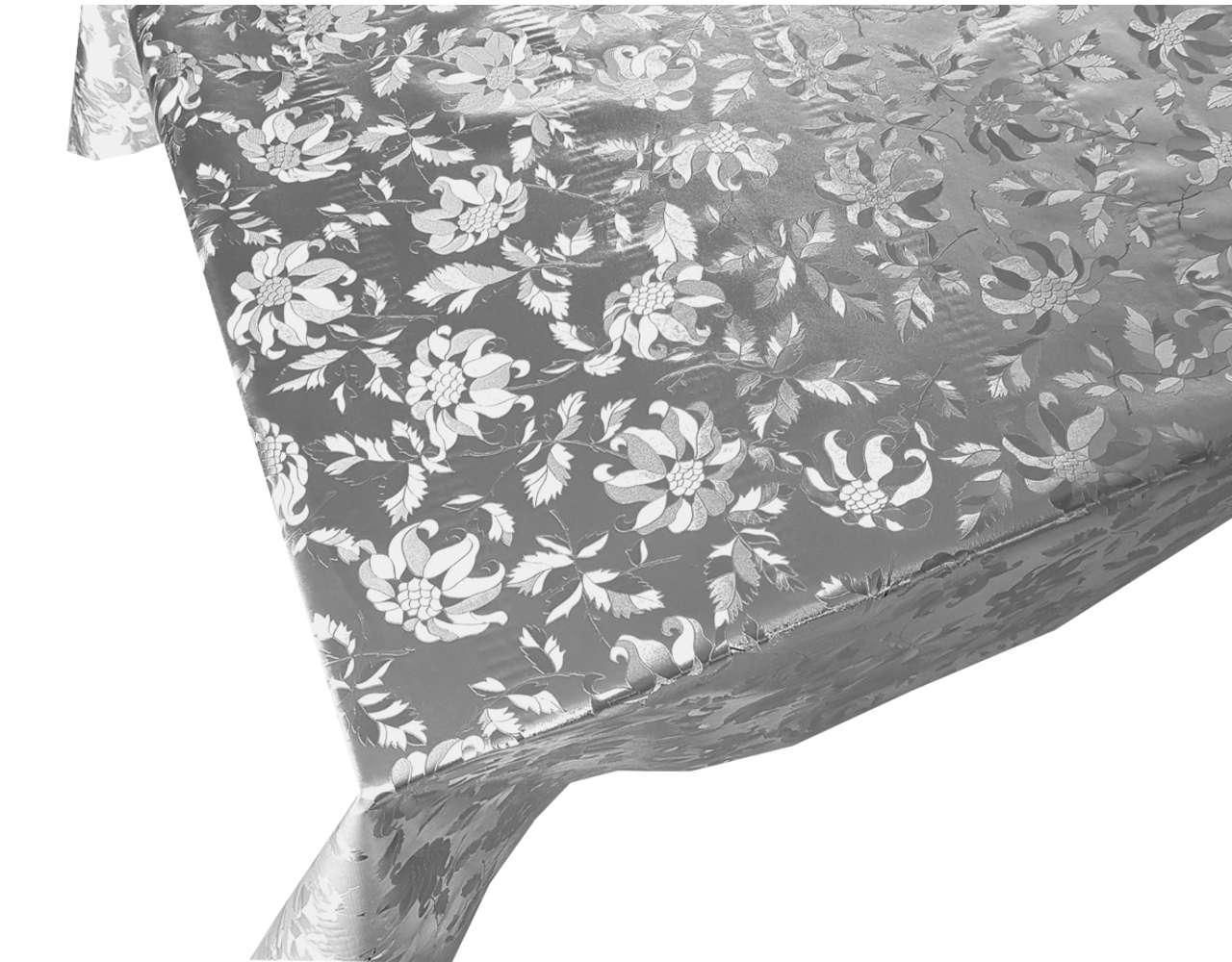 mantel por metros damasco oro plata dorado plateado