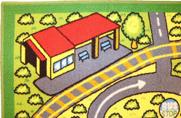 alfombra infantil carreteras parking