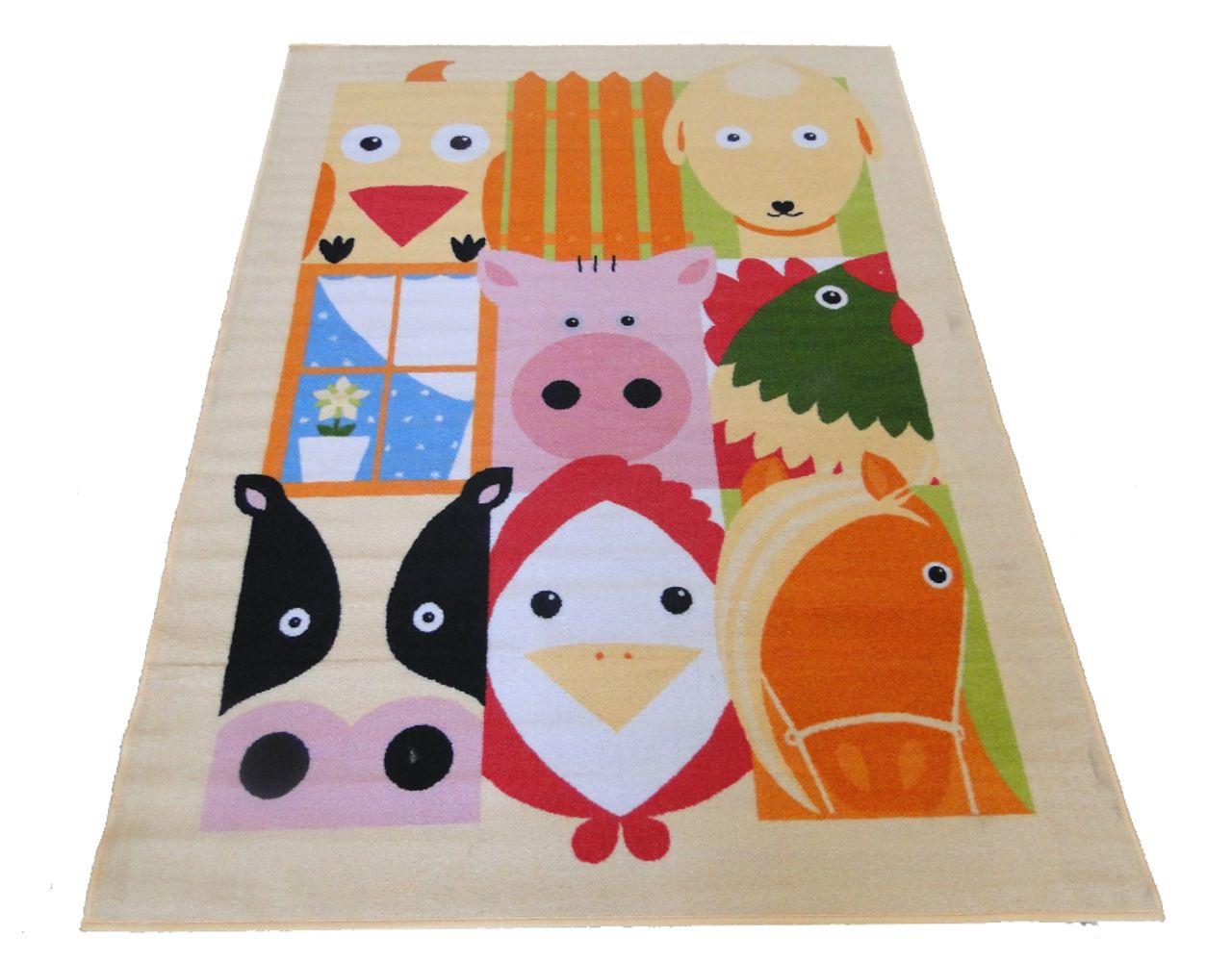alfombra infantil animales granja