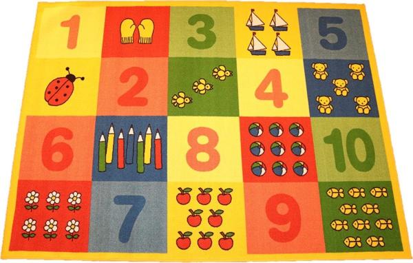 alfombra infantil grande números abecedario