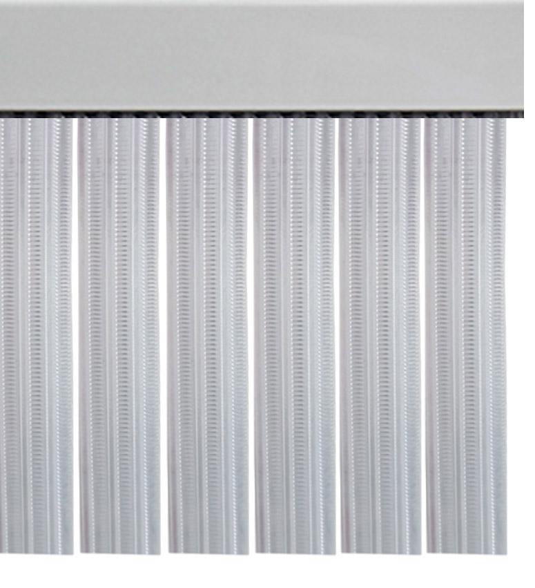 Cortina de tiras transparente para puertas