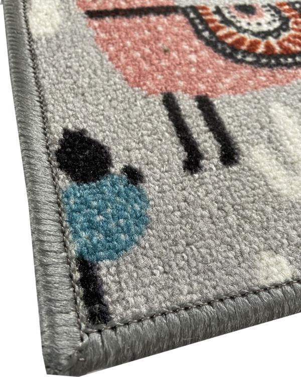 alfombra infantil llamas antideslizante barata exma