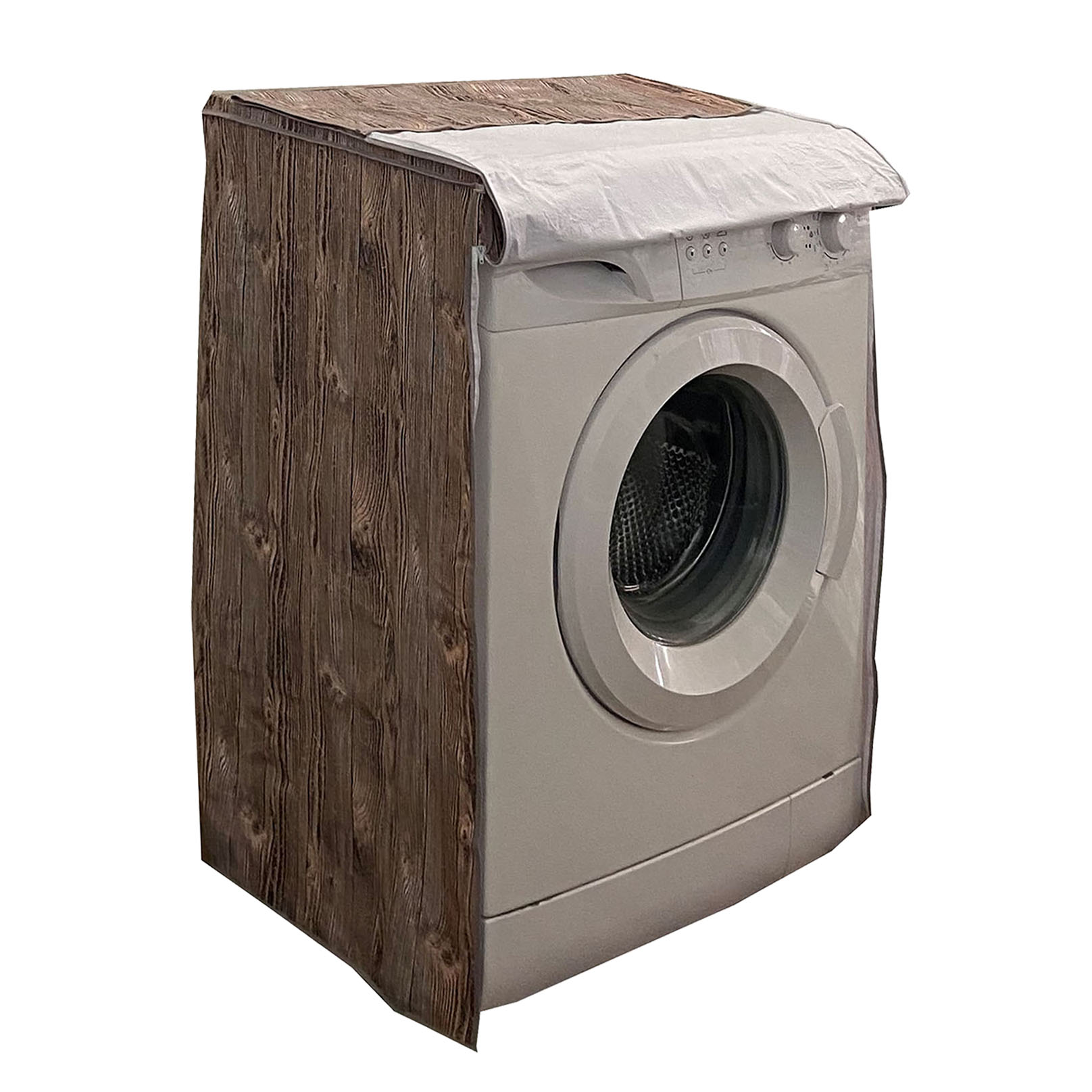 funda lavadora madera